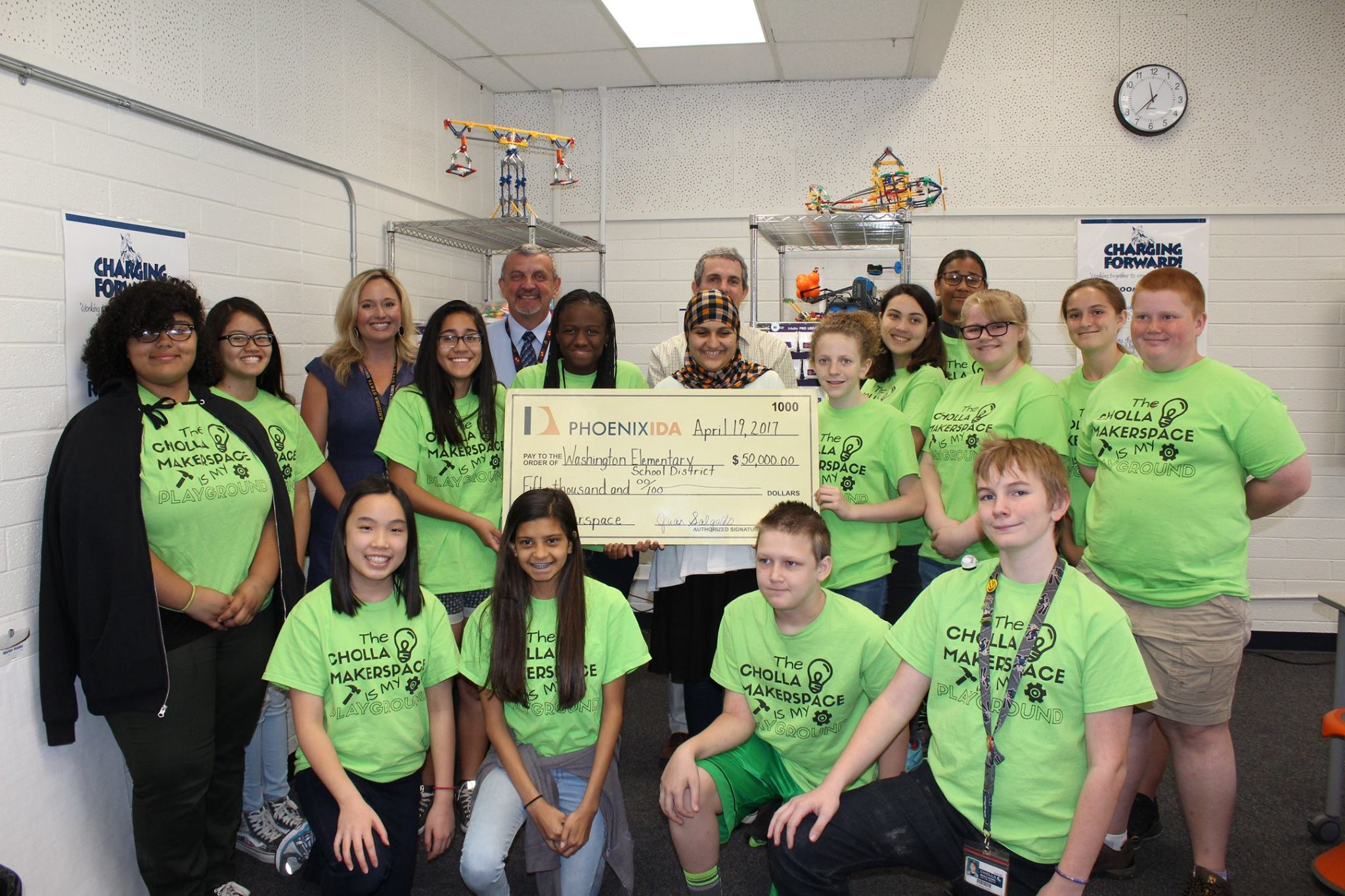 WESD check presentation at Cholla Middle School