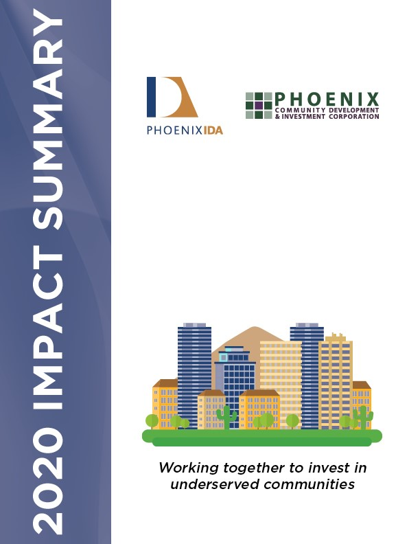 Cover image of the Phoenix IDA and PCDIC 2020 Impact Summary
